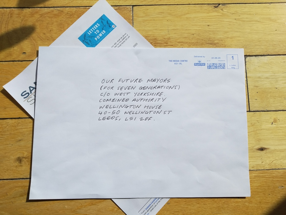 A letter address to the future mayors of West Yorkshire for seven generations