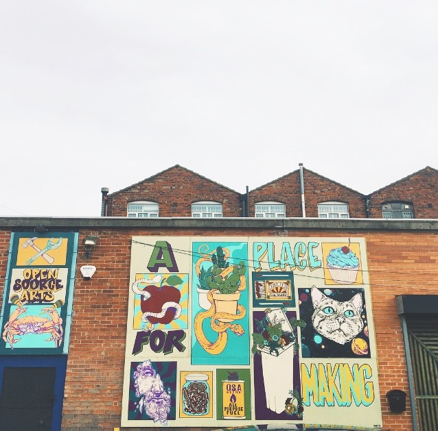 The outside of Open Source Arts in Leeds